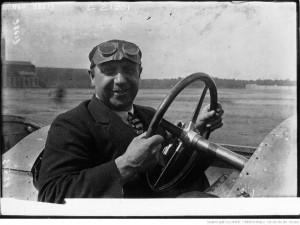Duray sur la Voisin du Grand Prix de l'A.C.F. (Strasbourg), 1922