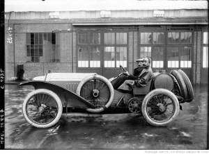 Grand Prix de Dieppe 1912, voiture Lorraine Dietrich de course, avec Mr Hem au volant