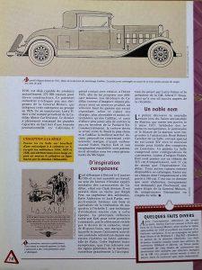LaSalle-Fiche-3-225x300 Cadillac LaSalle 303 Torpédo de 1928 Divers LaSalle 303 Torpedo de 1928 Voitures étrangères avant guerre