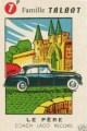 carte a jouer TALBOT LAGO grand sport voiture ancienne f (Copier)