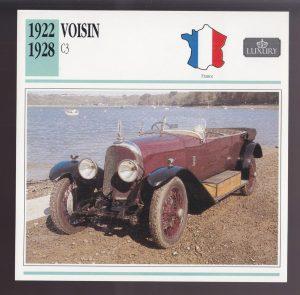 carte-Copie-300x295 Voisin C3 de 1923 en vente à Retromobile 2015 Voisin