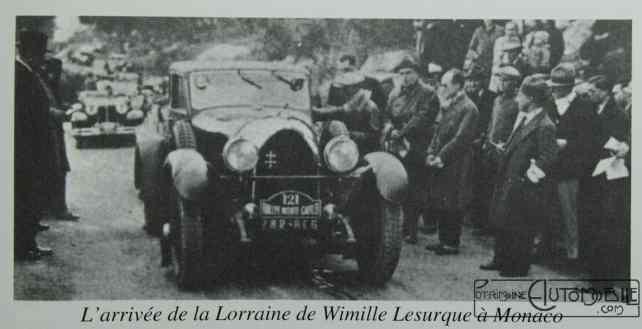 Lorraine-Dietrich-de-JP-Wimille-Monté-Carlo-1931-1024x524 Jean-Pierre Wimille en B3-6 à la course de Monté-Carlo 1931 Divers Lorraine Dietrich Wimille en Lorraine Dietrich 1931
