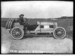 Brasier Léon Théry sur Brasier [Grand prix] de l'A. C. F. 1908 [course automobile à Dieppe le 7 juillet]