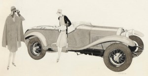 """Jean-Pages-1903-1976.-Lorraine-Dietrich-B3-6-1927.-Encre-et-lavis-sur-papier-280-cm-x-470.-Courtesy-galerie-Vincent-Lécuyer.-300x155 Lorraine Dietrich, pub dans """"Vogue"""" (1926) Lorraine Dietrich Lorraine Dietrich dans Vogue (1926)"""