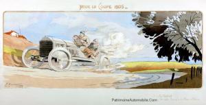 Pour-la-Coupe-1905.-Le-De-Dietrich-dArthur-Duray-pendant-les-essais-éliminatoires-françaises-pour-la-course-1905-Coupe-Gordon-Bennett-300x153 L'art et Lorraine Dietrich L'art et Lorraine Dietrich Lorraine Dietrich