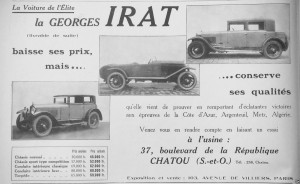 GI3-300x184 Georges Irat, voiture de l'élite Divers Georges Irat Voitures françaises avant-guerre