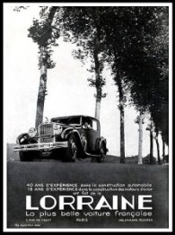 Lorraine 40 ans experience - Publicite Automobile de 1933