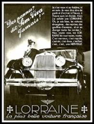 Lorraine Des pannes dit Sim-Viva jamais - Publicite Automobile de 1932