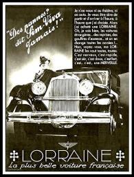 Lorraine-Des-pannes-dit-Sim-Viva-jamais-Publicite-Automobile-de-1932-227x300 Lorraine 20 CV (types 310/311) Lorraine 20 Cv
