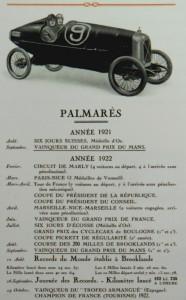 Salmson palmarès 1921 et 22