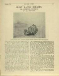 motor sport 1927 Lorraine Dietrich 1
