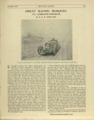 motor-sport-1927-Lorraine-Dietrich-1-235x300 Les Grandes Marques de Course, Lorraine Dietrich dans MotorSport de nov.1927 Lorraine Dietrich dans MotorSport