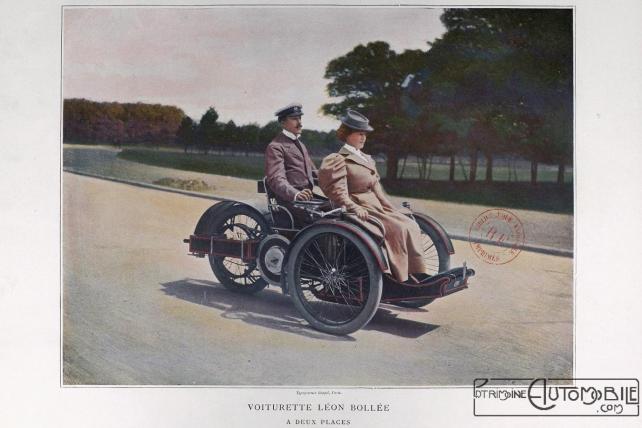 """Les_Sports_modernes_-_Léon-Bollée-1898-1024x683 """"Voiturette"""" Léon Bollée de 1896 Divers Voitures françaises avant-guerre"""