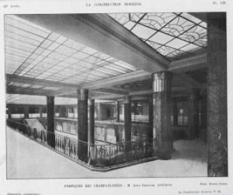 portiques-10-300x252 Lorraine Dietrich sur les Champs Elysées 1928 Lorraine Dietrich Lorraine Dietrich sur les Champs Elysées