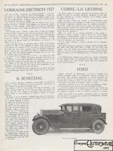 """LD-1926-la-revue-limousine-225x300 Lorraine-Dietrich millésime 1927 dans """"La revue Limousine"""" article sur Lorraine Dietrich 1927 Lorraine Dietrich"""