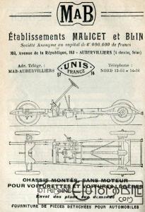malicet-et-blain-205x300 Comment devenir constructeur automobile (d'avant-guerre)? Autre Divers Voitures françaises avant-guerre