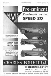 Alvis speed 20 pub 1933
