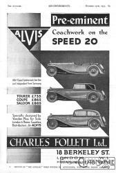"""Alvis-speed-20-pub-1933-201x300 Alvis """"Speed Twenty"""" 1936 Cyclecar / Grand-Sport / Bitza Divers Voitures étrangères avant guerre"""