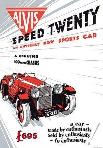"AlvisSpeedTwentyposter-208x300 Alvis ""Speed Twenty"" 1936 Cyclecar / Grand-Sport / Bitza Divers Voitures étrangères avant guerre"