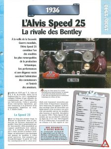 alvis speed 25 fiche 1