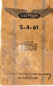 Salmson S4-61 notice d'entretien (1)