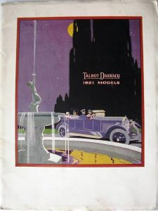 Talbot Darracq 1921 catalogue 1
