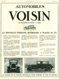 Voisin 10cv 1926 pub