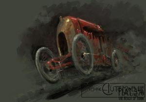 "fiat-record-dessin-300x210 FIAT S76 ""Bête de Turin"" (1911) Divers"