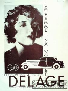 delage-la-femme-sa-voiture-225x300 Delage D8-120 Cabriolet par Vanvooren 1938 Divers
