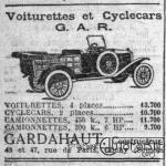 gardahaut-1925-300x300 Cyclecar G.A.R. 1927 Cyclecar / Grand-Sport / Bitza Divers