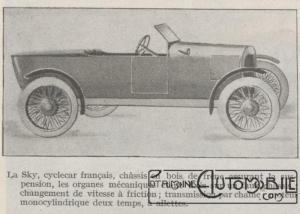 Automobilia-31-01-1920-cyclecars-sky-300x214 Les cyclecars (Automobilia du 31/01/1920) 1/2 Divers