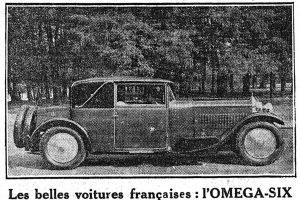figaro-11-10-1928-2-300x200 Oméga-Six 1929 Divers Voitures françaises avant-guerre
