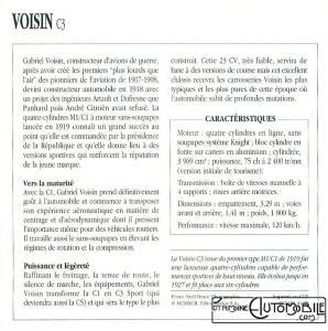 voisin-c3-fiche-2-298x300 Voisin C3 Sport 1921 Voisin