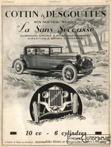 1927pub01-226x300 Cottin Desgouttes Type TA 1929 du Rallye Saharien Divers Voitures françaises avant-guerre