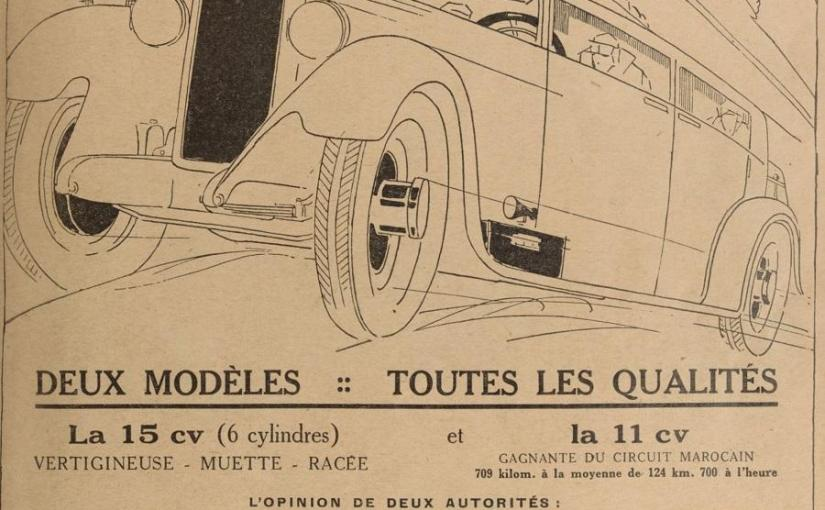 Georges Irat 15 cv, 6 cylindres dans Omnia 1927