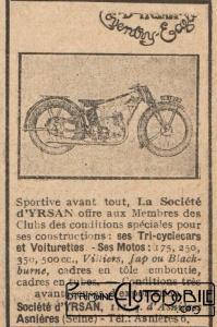 dyrsan-pub-moto-1929-199x300 D'Yrsan Grand Sport 1928 Cyclecar / Grand-Sport / Bitza Divers