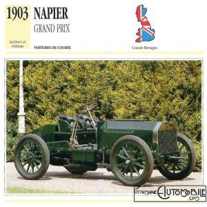 """Napier-1903-fich-1-300x300 Napier """"Gordon Bennett"""" 1903 Cyclecar / Grand-Sport / Bitza Divers Voitures étrangères avant guerre"""
