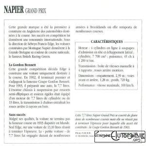 """Napier-1903-fich-2-300x300 Napier """"Gordon Bennett"""" 1903 Cyclecar / Grand-Sport / Bitza Divers Voitures étrangères avant guerre"""