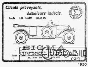 Sigma1920-300x228 Sigma 1916 Divers Voitures françaises avant-guerre
