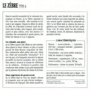 Le-Zèbre-fiche-4-300x300 Le Zèbre type A 1911 Divers Voitures françaises avant-guerre