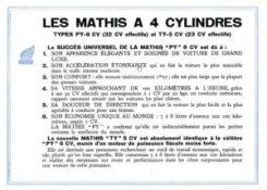 Mathis-TY-5-cv-1932-pub-4-300x214 Mathis TY 5 cv de 1932 Divers Voitures françaises avant-guerre