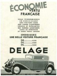 Delage-Pub-1932-225x300 Delage D8S Coach par Chapron de 1932 Divers Voitures françaises avant-guerre