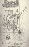 Mapa de la isla del tesoro, dibujado por R.L. Stevenson