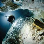 Buceo en la mina Ojamo en Finlandia