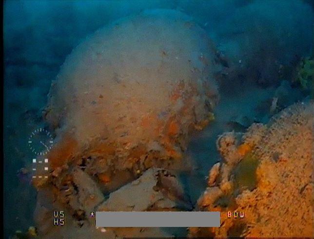 Filmación de un pecio romano en aguas de Cartagena con un 'drone'.