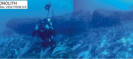 Hallan sofisticado monolito en Sicilia, sumergido por el alza del mar