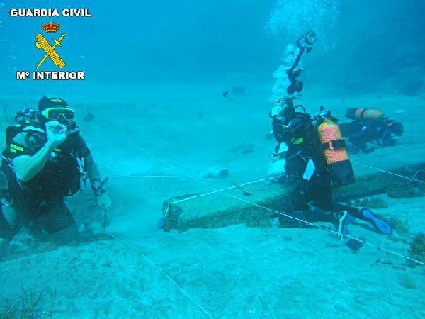 Centro Arqueología Subacuática forma a 30 guardias civiles contra el expolio
