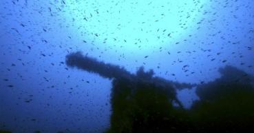 Un buzo italiano cree haber localizado el HMS P311, un submarino británico perdido desde que fue hundido cerca de Cerdeña durante la Segunda Guerra Mundial (Massimo Domenico Bondone / AP)