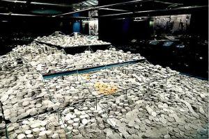 Las monedas expoliadas por Odyssey se presentan como elementos culturales en la muestra dedicada a la fragata Mercedes que partió de Perú rumbo a España en el siglo 19. Foto: Tomada de accioncultural.es
