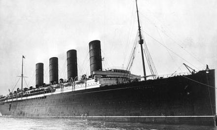 Las incógnitas del hundimiento del Lusitania.